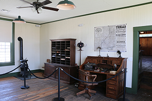 The Station Master's Office at the Kyle Railroad Depot