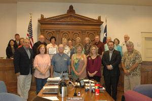 Historical Commission Receives Award at Commissioners' Court