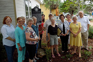 Miss Lillie Dobie's House - Marker Ceremony