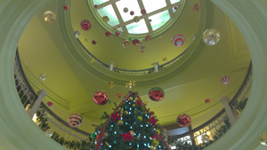 Christmas Tree in the Rotunda of the Hays Courthouse.