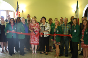 Ribbon Cutting for Hays Historical Museum at Courthouse
